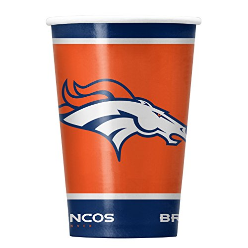 NFL Denver Broncos Disposable Paper Cups, Pack of 20 for $<!--$7.99-->