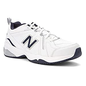 New Balance Men's MX608V4 Training Shoe,White/Navy,15 D US