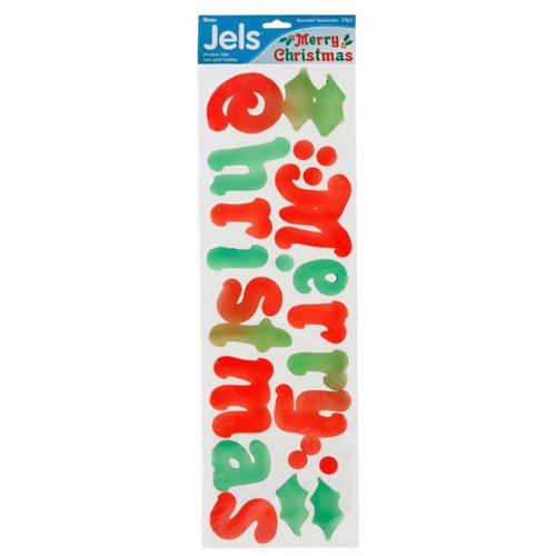 Christmas Window Gel Stickers - WGI Merry Christmas Window Gels