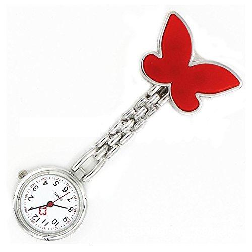 Reloj de pulsera de enfermera - SODIAL(R)Ideal regalo! rojo Reloj de