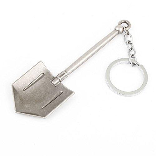 Grau Metall Schaufel Design Anhänger Schlüsselanhänger Schlüsselanhänger Tasche Dekoration