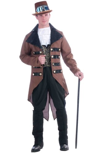 Forum Steampunk Jack Complete Costume, Brown, One (Funny Halloween Pranks For School)
