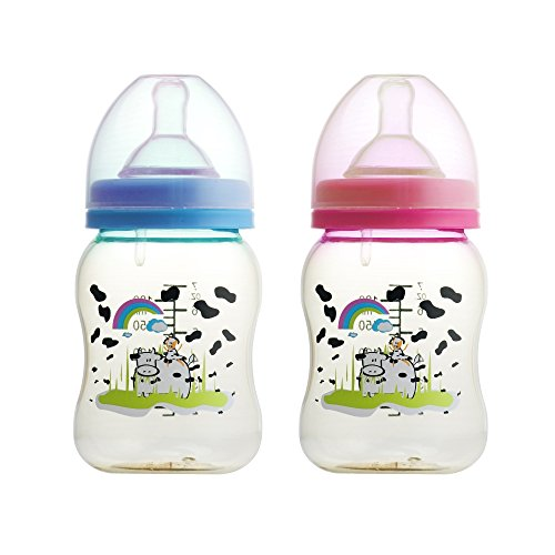 Basilic BPA Free PES Anti Colic Wide Neck Feeding Bottle, 7 Ounce (Pack of ()
