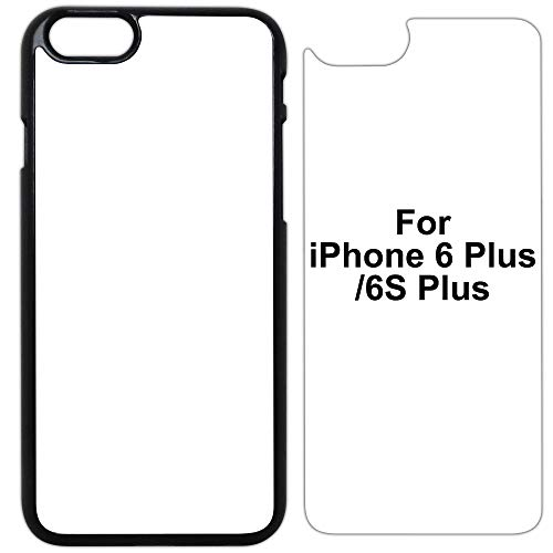 5X Sublimation Blank Cases Compatible with Apple iPhone 6 Plus/6S Plus-Plastic-Black-Blank Dye Cases and Inserts for Dye Sublimation/Phone Cover/Blank Printable Cases, Made by INNOSUB USA