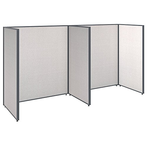 Bush Business Furniture ProPanels 2 Person Open Cubicle Office in Light - Cubicle Propanel