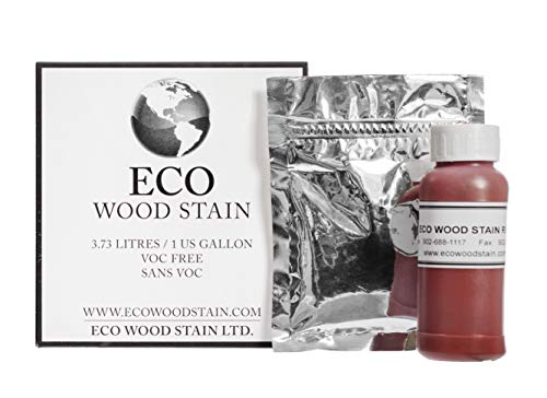 Eco Wood Treatment 1 US Gallon, Long Lasting, Red, Semi-Transparent (1 Pack)