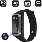 Aipinvip Smart Bracelet Hidden Camera, Surveillance Recording Camera 1080P HD, Wristband With Steps Calorie Counter, Smart Time Display For iOS&Android (Not included TF card)