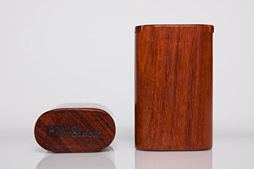Handcrafted Vape Box / Battery Box Holder Made of Unique Red Wood