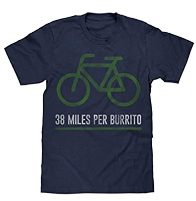 38 Miles Per Burrito Bike T-Shirt|Vintage Look|Soft Fabric
