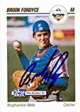 Autograph Warehouse 53324 Brook Fordyce Autographed Baseball Card New York Mets 1992 Skybox No .24