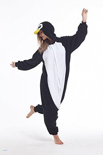 Zinuods Women Men Adult Pajamas Penguin Onesies Animal Cosplay Costumes L ()