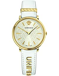 Women's 'MANIFESTO EDITION' Swiss Quartz Gold-Tone and Leather Casual Watch, Color White (Model: VBP100017)
