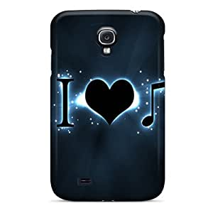 Hot Tpu Cover Case For Galaxy/ S4 Case Cover Skin - Music