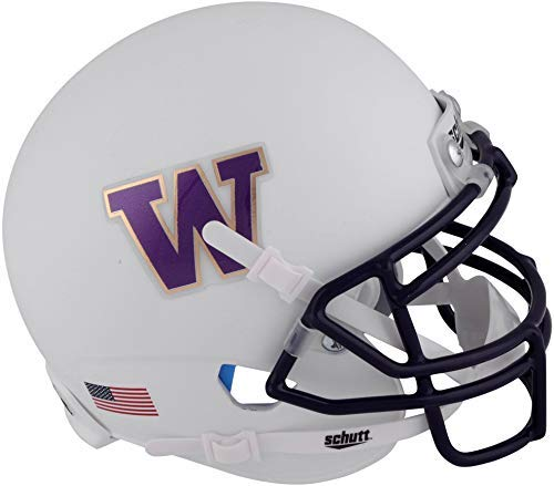 (Sports Memorabilia Washington Huskies Schutt White Mini Football Helmet - College Mini Helmets)