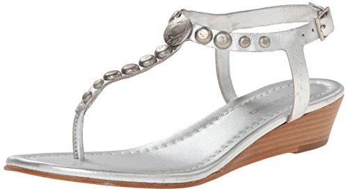 Bernardo Femmes Mojo Wedge Wedge Sandale Argent