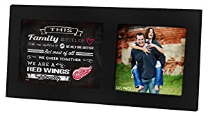 "KH Sports Fan 16""X8"" Detroit Red Wings Family Cheer Black Single NHL Photo Frame"