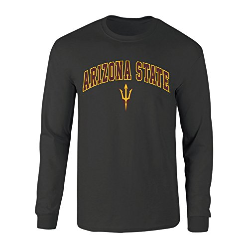 Arizona State Sun Devils Long Sleeve Tshirt Arch Heather Gray - XL - Charcoal