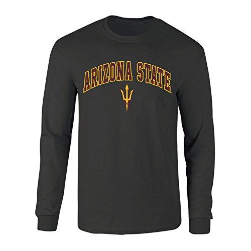 - Elite Fan Shop Arizona State Sun Devils Long Sleeve Tshirt Arch Heather Gray - M - Charcoal