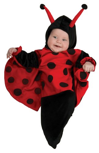 [Rubie's Costume Deluxe Baby Bunting, Lady Bug Costume, 0 to 9 Months] (Cheap Hallowen Costumes)