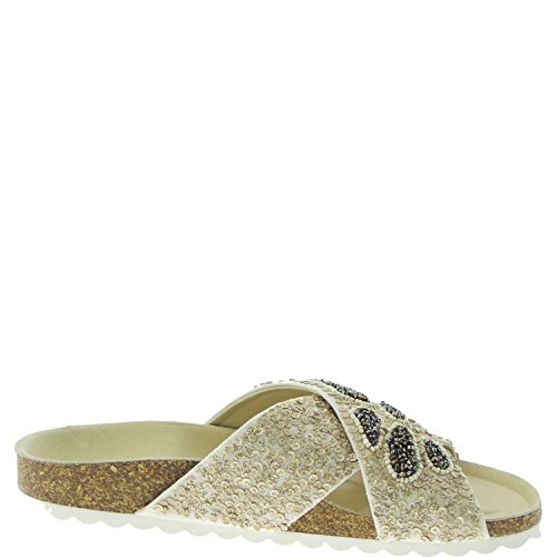 set Donna Sandali Ciabatta 6301n Sandals Twin Women Beige gPqCE