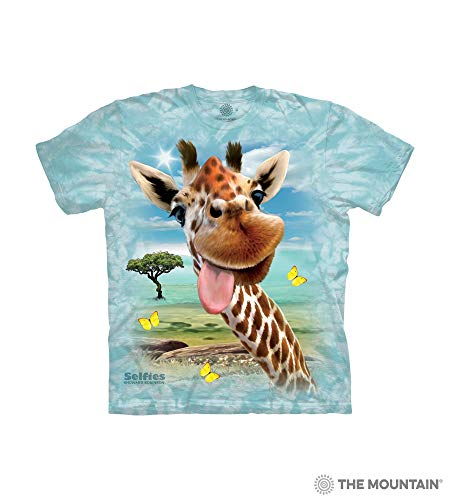 The Mountain Giraffe Selfie Child T-Shirt, Green, Small]()