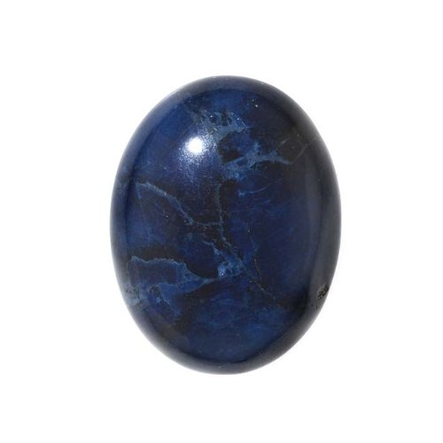 25mm Oval Beads - Beadaholique Blue Sodalite Gemstone Oval Flat-Back Cabochons 25x18mm (1 Piece)