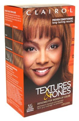 Clairol Textures & Tones Kit #5G Light Golden Brown
