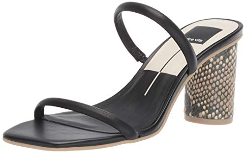 Dolce Vita Women's Noles Heeled Sandal, Black Leather, 9.5 M US from Dolce Vita