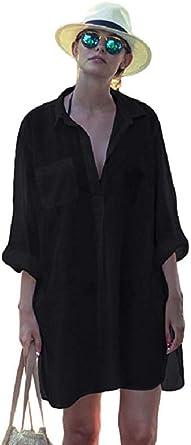 Womens Vogue Print Long Sleeve Baggy Oversized High Low Pocket Shirt Dress Top