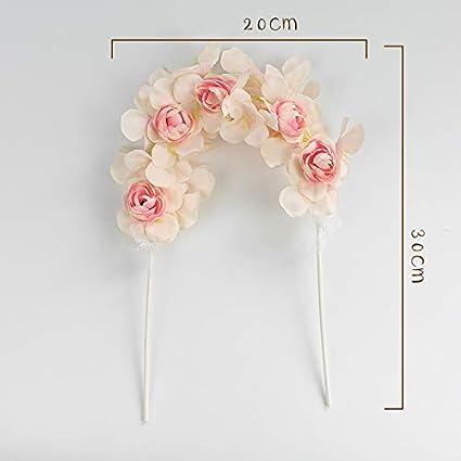 Decoración para tartas – Arco de flores de resina de ...