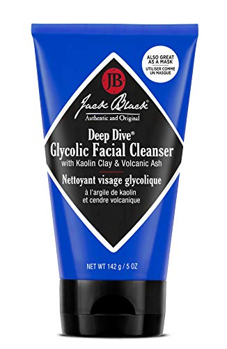 Jack Black - Deep Dive Glycolic Facial Cleanser, 3, 5 and 10 fl oz - Clay-Based Cleanser, PureScience Formula, Facial Cleanser and Mask, Recommended for Normal, Dry, or Oily Skin, Glycolic Acid