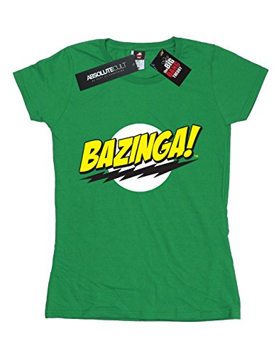Femme Bazinga Vert shirt Absolute Bang Big The Sheldon Irlandais T Theory Cult w4vXO