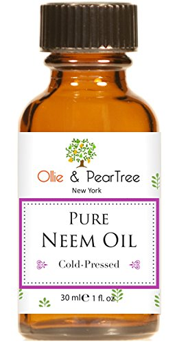 Ollie & PearTree 100% PURE NEEM OIL,1 oz - For Skincare, Hair Care, and Natural Bug Repellent