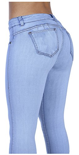 Curvify Stretch Butt Lifting Skinny Denim Jeans | Pantalones Levantacola (600,SkyBlue,5) (Lift Denim Butt)