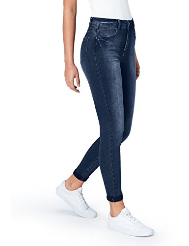 Taille Normale Bleu FIND Femme Indigo Mid Jean Skinny qwwT4x