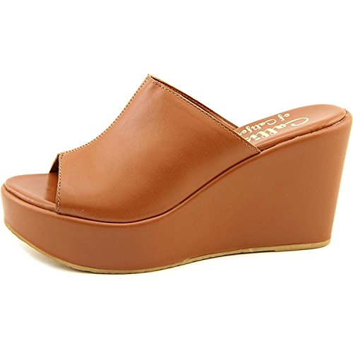 Callisto Womens Maeve Open Toe Casual Platform Sandals Cognac