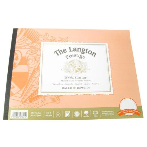 Daler Langton Prestige Watercolour Pad HP 12 x 9
