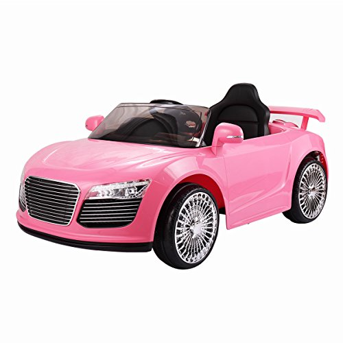 JAXPETY 12V Jeep Style Kids Ride on Truck Battery Powered Electric Car W/Remote Control Pink