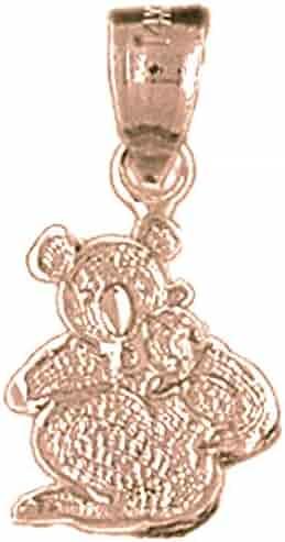 Sterling Silver 925 Teddy Bear Pendant 21 mm Jewels Obsession Teddy Bear Pendant
