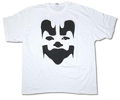 Real Swag Inc Insane Clown Posse Big Face Shaggy White T Shirt ICP (L)