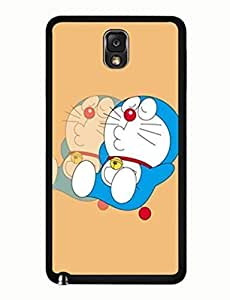 Doraemon Graphic Geometric Theme Cartoon Samsung Galaxy Note 3 Solid Case (N9005) yiuning's case
