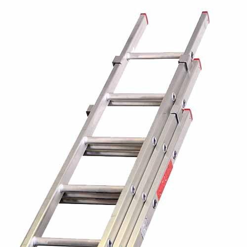 SHS – Manipulación hg1692-d extensión escalera, 11 peldaños doméstica 3 sección Push Up: Amazon.es: Industria, empresas y ciencia