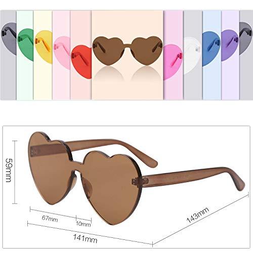 SOJOS Plástico Café Mujer Para Corazón Forma Gafas De SJ2055 Sol De qnxRwqrTv