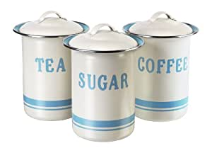 JAMIE OLIVER Vintage Inspired Coffee, Tea and Sugar Tin Set