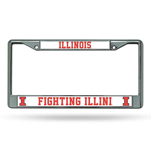 Rico Illinois Illini Chrome Frame, ( 094746036836 -