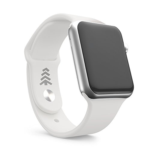 Apple Watch Band, White Soft Silicone Sport Style Replacement Bands, 42MM, Offered by Teak