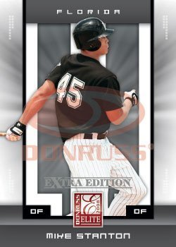2008 Donruss Elite Extra Edition Baseball ROOKIE Card - Mike Stanton XRC - Florida Marlins - MLB Rookie Card / Giancarlo Stanton ()