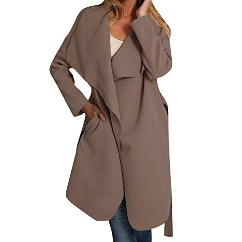 DongDong Ladies Elegant Cardigan, Solid Open Front Long Sleeve Outwear with -