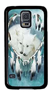 Generic Wolf Heart Polycarbonate Hard Case Back Cover for Samsung S5 - Black