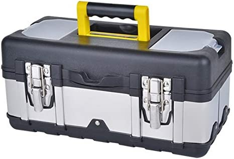 ChenCheng 工具収納ボックス - ステンレス鋼車修理工具部品収納ボックス多機能家庭用ポータブルポータブル工具収納ボックス ツールボックスストレージと組織 (Size : 45x25x19.5cm)